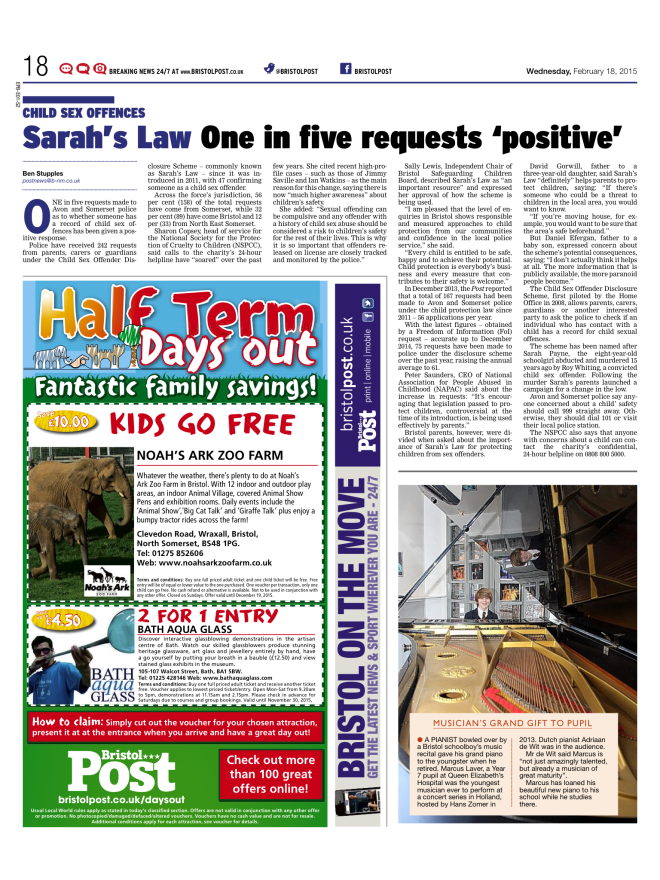 Ben Stupples - Sarah's Law